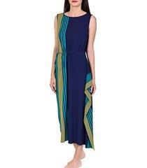 lange jurk lisca zomerse lange jurk dominica blauw