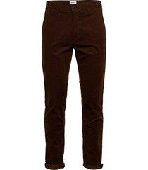 corduroy slim fit pants casual byxor vardsgsbyxor brun lindbergh