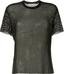 dion lee float sheer t-shirt - black