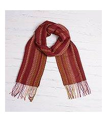 alpaca blend scarf, 'sophisticated beauty' (peru)