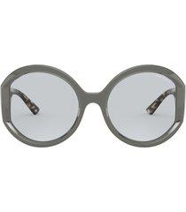 women's prada 55mm round sunglasses - lght blue lght gry