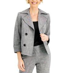 kasper cross-dye faux-double-breasted jacket