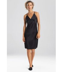 natori enchant slip pajamas / sleepwear / loungewear, women's, black, size s natori
