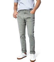 pantalon cleverlander stretch color siete para hombre - verde