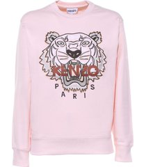 kenzo sweatshirt in pink cotton