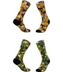 men's and women's cat-moflauge socks, set of 2