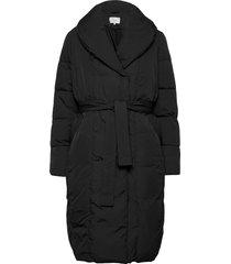 viwanas long jacket/su doorgestikte jas zwart vila
