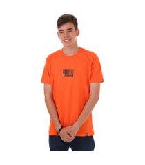 camiseta barcode synthetic inc. - sync - laranja