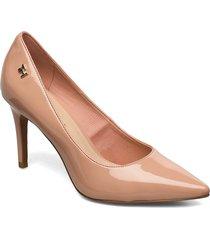 feminine patent high heel pump shoes heels pumps classic beige tommy hilfiger