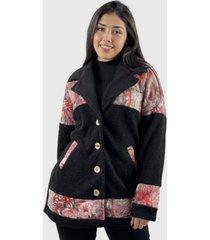 abrigo chiporro negro boho chic enigmática boutique
