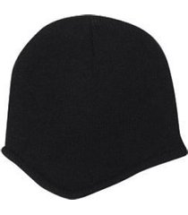otto acrylic knit beanie with fleece lining (color-black)