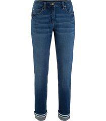 jeans elasticizzati con risvolto straight (blu) - bpc bonprix collection