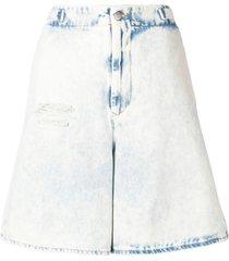 mm6 maison margiela oversized fit shorts - blue