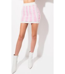 akira keep it clean fuzzy mini skirt
