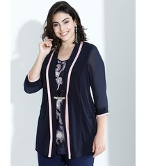 2-in-1-shirt m. collection marine::roze
