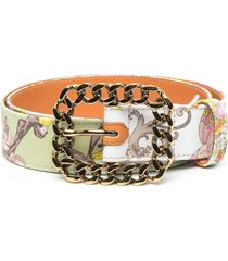cotton belt with multicolored foulard stamp
