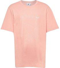 sprt 3s tee t-shirts short-sleeved rosa adidas originals