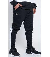 pantalon buzo media franja negro family shop