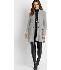 maurices womens gray button front cardigan coat