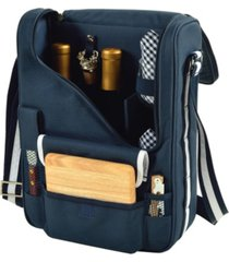 picnic at ascot bordeaux insulated wine and cheese tote - glass wine glasses