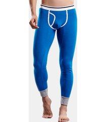 pantaloni per indumenti da notte per la donna con maniche lunghe di mezza vita a vita lunga
