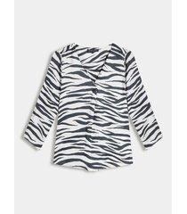 blusa  estampada escote v