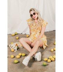 femme9 jurk geel suzie