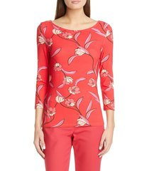 women's st. john collection spring floral jersey top