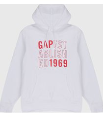 buzo blanco-rojo gap