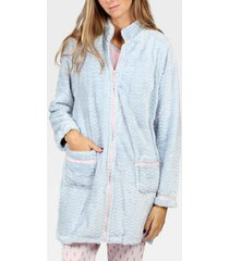 pyjama's / nachthemden admas soft border inner jacket blauw adma's