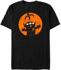 disney pixar men's toy story alien claw machine halloween short sleeve t-shirt