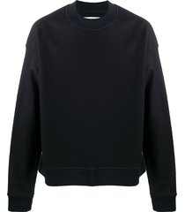 jil sander crew neck wool sweatshirt - blue