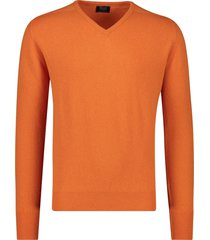 pullover william lockie oranje v-hals