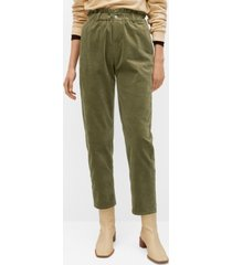 mango women's elastic waist cotton pants