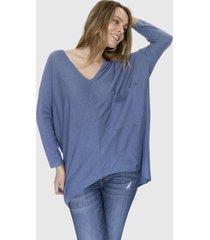 sweater bolsillo helena azul racaventura