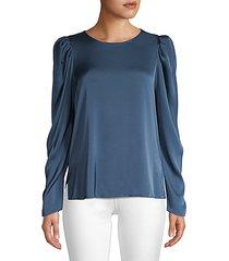 lois stretch-silk blouse
