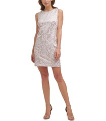 vince camuto embroidered sheath dress