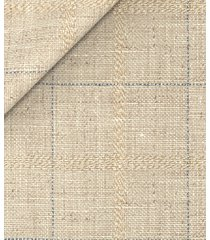 giacca da uomo su misura, bottoli, lana lino beige quadri, primavera estate | lanieri