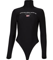 active stretch turtleneck bodysuit