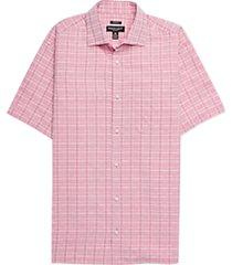 pronto uomo raspberry plaid camp shirt