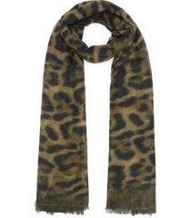 maculato' leopard print cashmere scarf