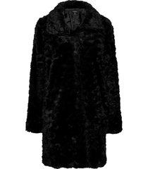 coat moa fur outerwear faux fur zwart lindex