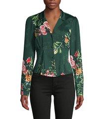 floral vintage-style blouse
