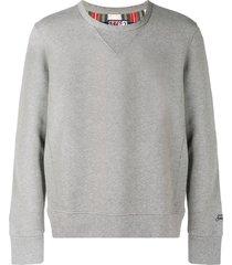 grey melange man sweatshirt