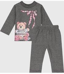 conjunto gris-rosado bee loop