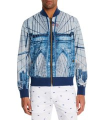 brooklyn brigade men's slim-fit construction reversible bomber jacket