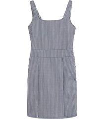 vestido estampado a rayas color azul, talla l