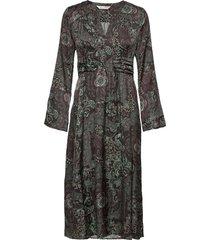 amélie long dress knälång klänning grå odd molly