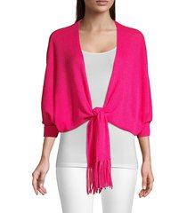 trina turk women's florentina cashmere cardigan - trina pink - size xs/s