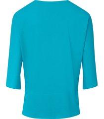shirt van 100% pima cotton met ronde hals van peter hahn turquoise